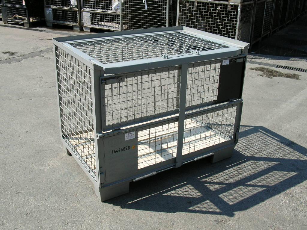 Set - Eurogitterboxen, neu + Gibo-Safe Deckel, neu-0