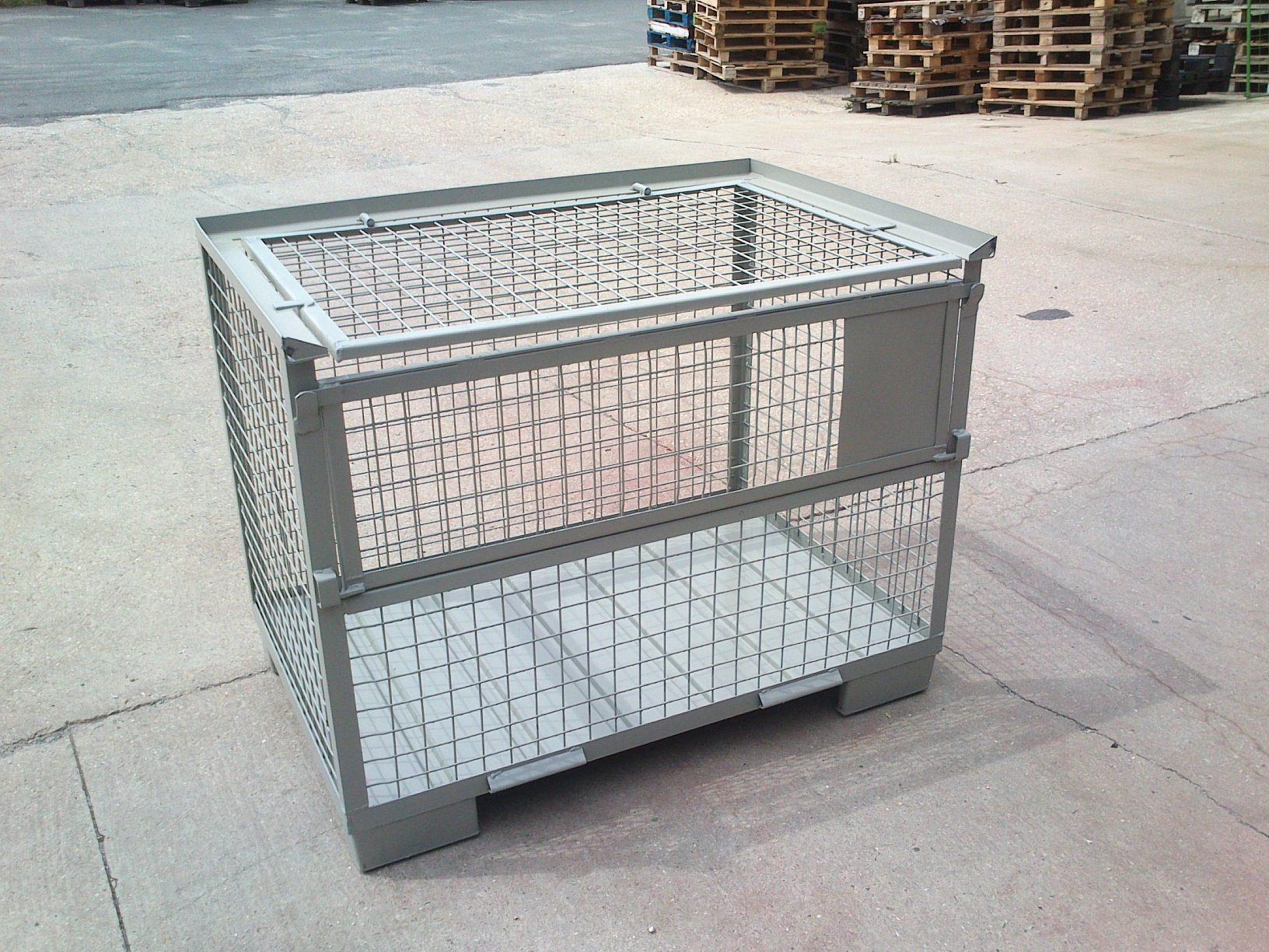 Set - Gitterboxen IND-LSB + Gitterdeckel, neu-0