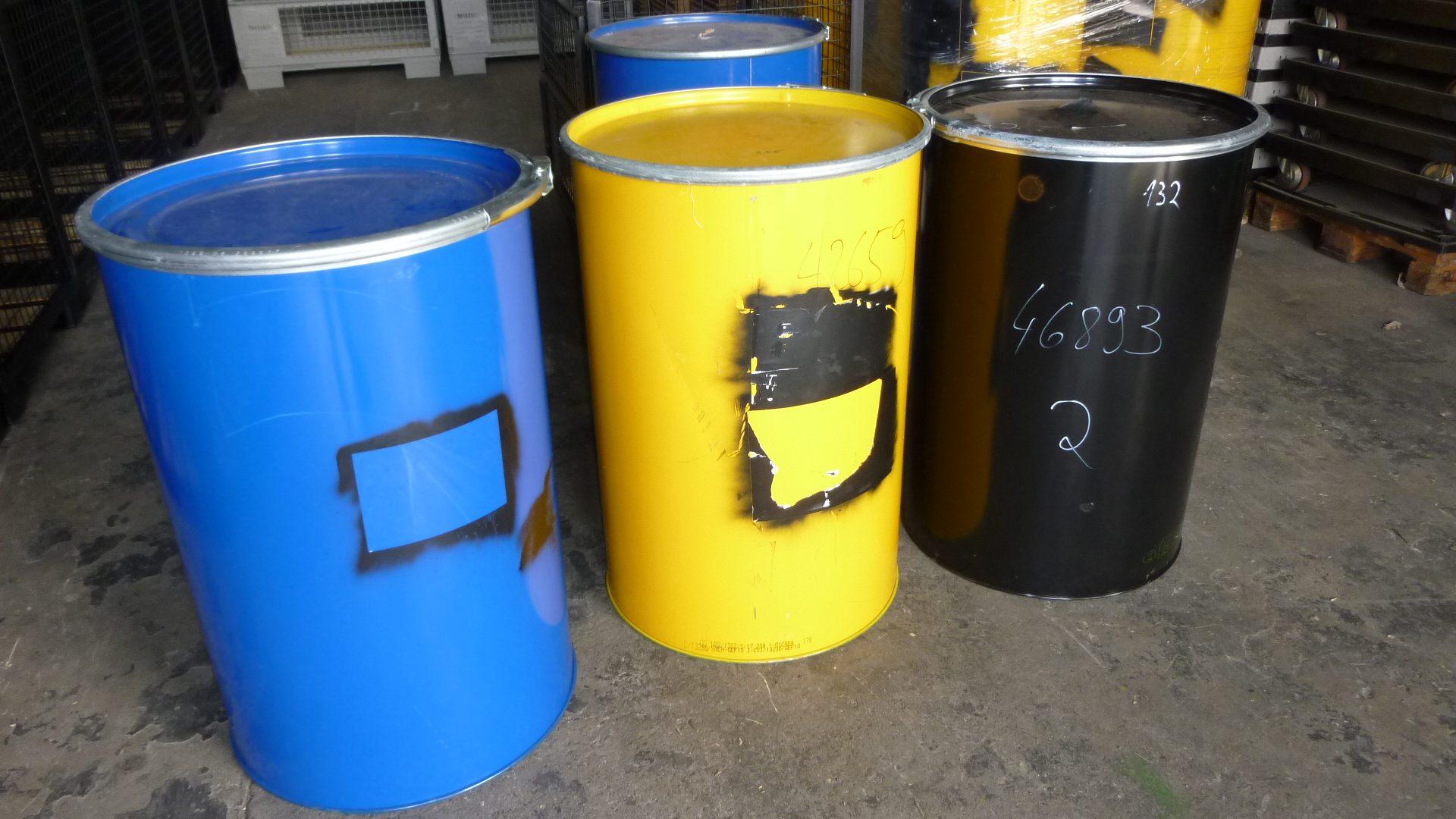 Stahlfässer 200 L, gebraucht-0