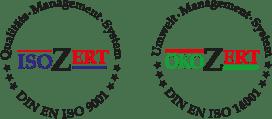 Logos isoZert und ökoZert