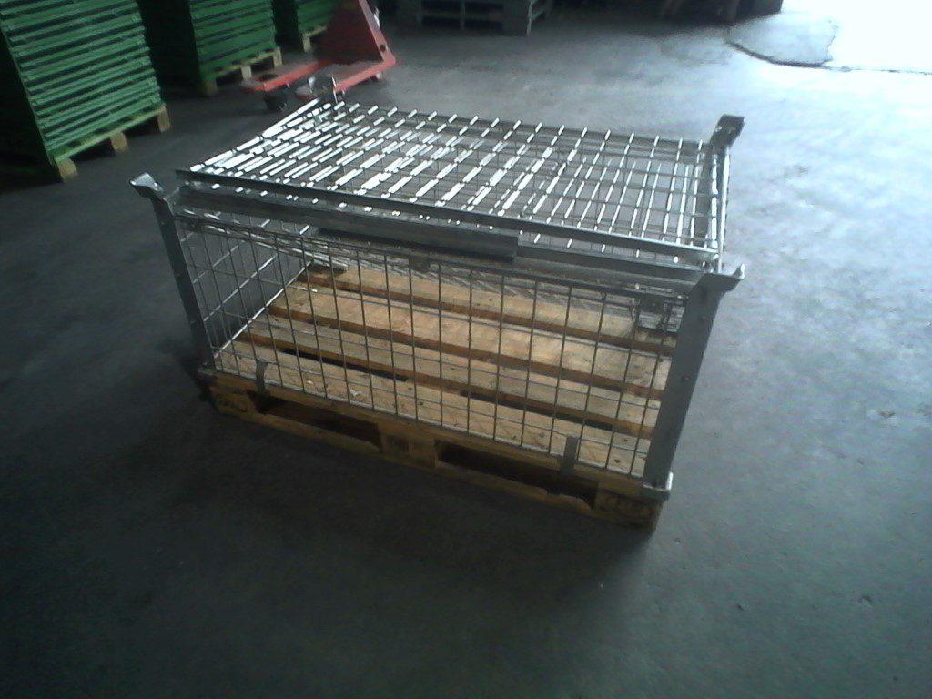 Faltgitterboxaufsatzrahmen EUM-H120-gvz, gebraucht - zusammengeklappt